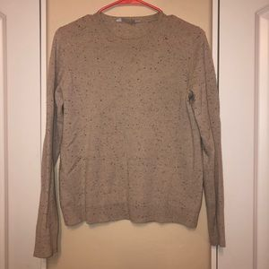 Everlane Cashmere Donegal Crew Sweater Taupe S